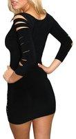 Женское платье Cason n074/! /+ s G ,   N074-Black