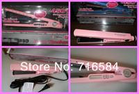 3шт розовый для выпрямления волос pro nano титана керамические нагреватели для выпрямления волос железа 1 1/4' плиты Ширина 450f