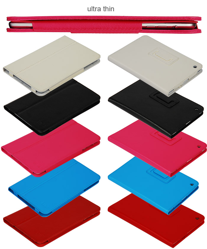 new products super thin pu case for ipad 4