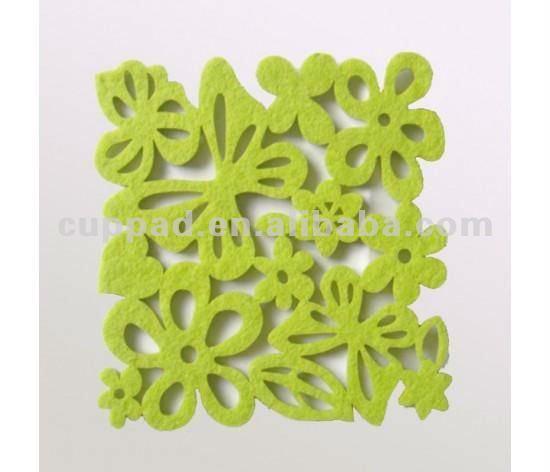 colorful home decoration felt coasters, green inspiration felt coasters (A-300)