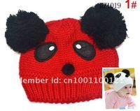 Новый panda формы прекрасный мальчик девочка шляпы, зимние детские шляпы, Вязаные шапки детям сохранить теплую шапку 7 цвет подарки