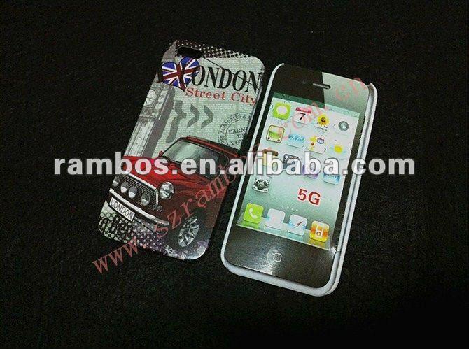 Vintage plastic hard case, us dollar case for IPhone 5G