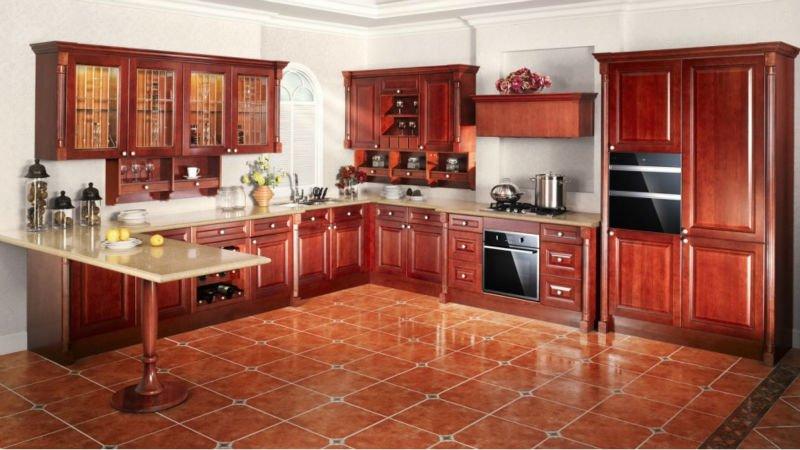 Classique conception d 39 armoires de cuisine style simple meubles de cuisine armoires de cuisine - Modele de placard de cuisine ...