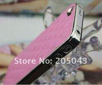 Новая мода роскоши bling с кожаный чехол для apple iphone 4 4 g 4s