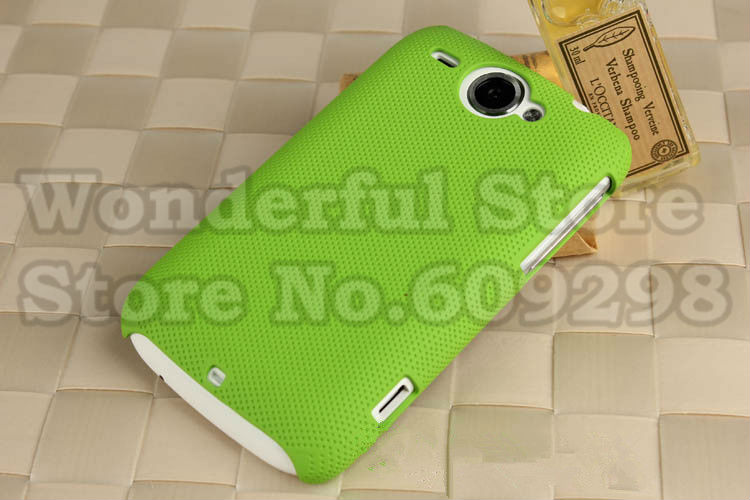 High Quality Anti-slip Rubberized Dream Mesh Hard Plastic Cover Case For HTC Wildfire G8 Free Shipping