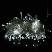 100leds белый цвет fedex DHL привел строки украшения света 10 м для Рождественской вечеринки, свадьбы 100 шт / много