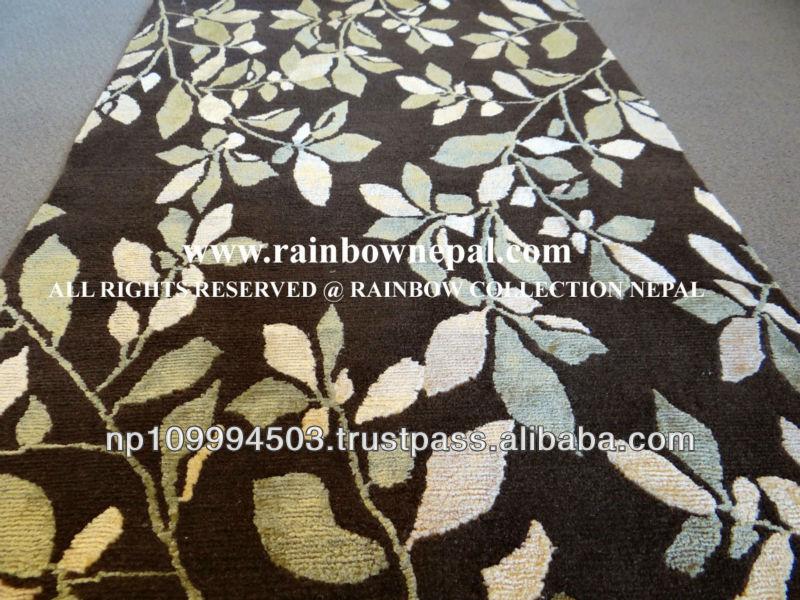 Nepal Hand Knotted Wool Silk Tibetan Rug