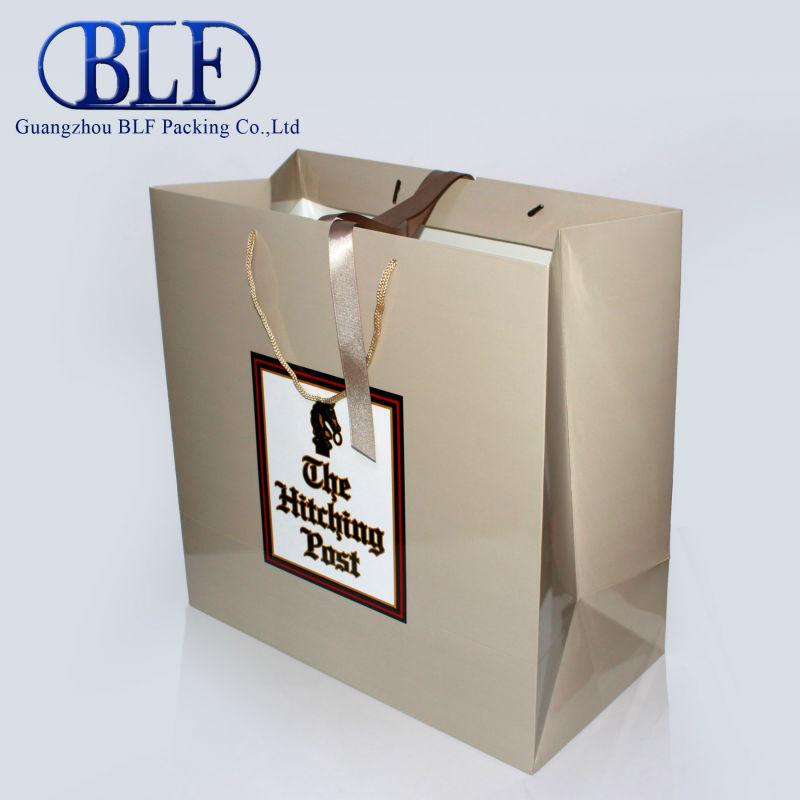 Ribbon tie gift bags(BLF-PB098)