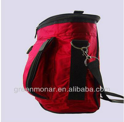 polyester wine bottle cooler bag for outdoor