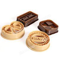 высокое качество 4шт классические печенье в форме бисквитные печенья резец плесень набор