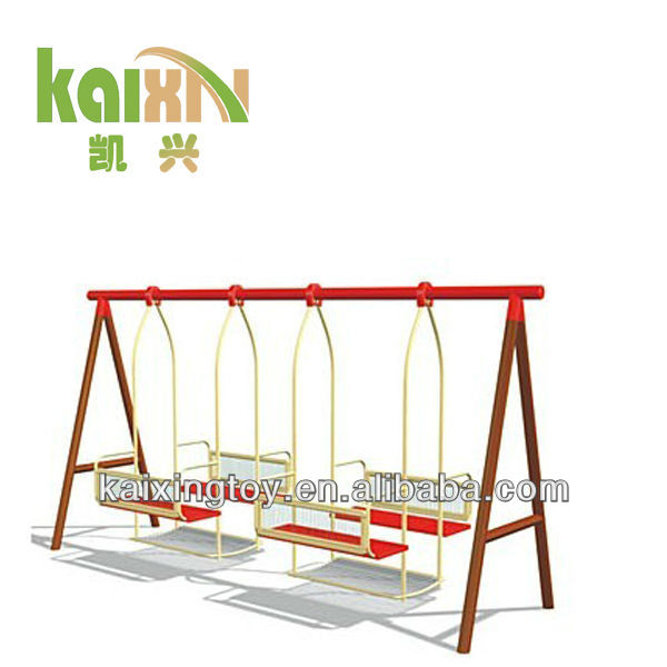 Outdoor Children Plastic Garden Swings Seat With Steel Stand