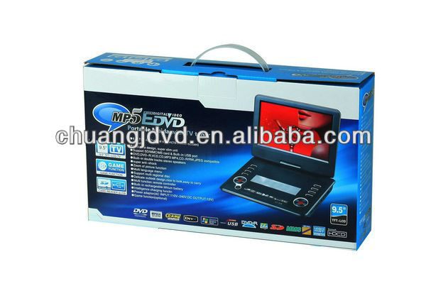 9.5 inch portable music cd with tv, games