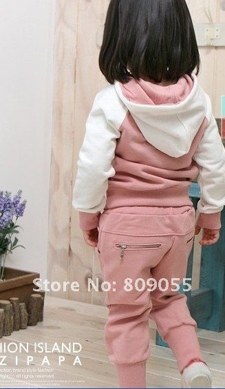 Free shipping Baby Sports Set 2pcs sport clothing set baby wear 5 sizes
