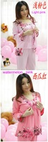 Женский комплект для сна Spring and autumn women's 100% cotton rabbit long-sleeve three pieces in a set sleepwear lounge