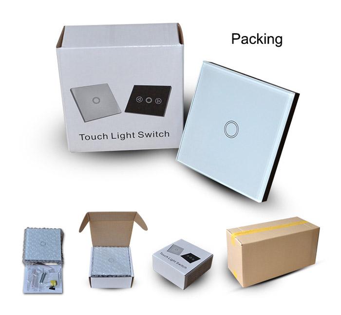 Uk Standard Smart Home 3 Gang Smart Electric Switch Digital Light ...