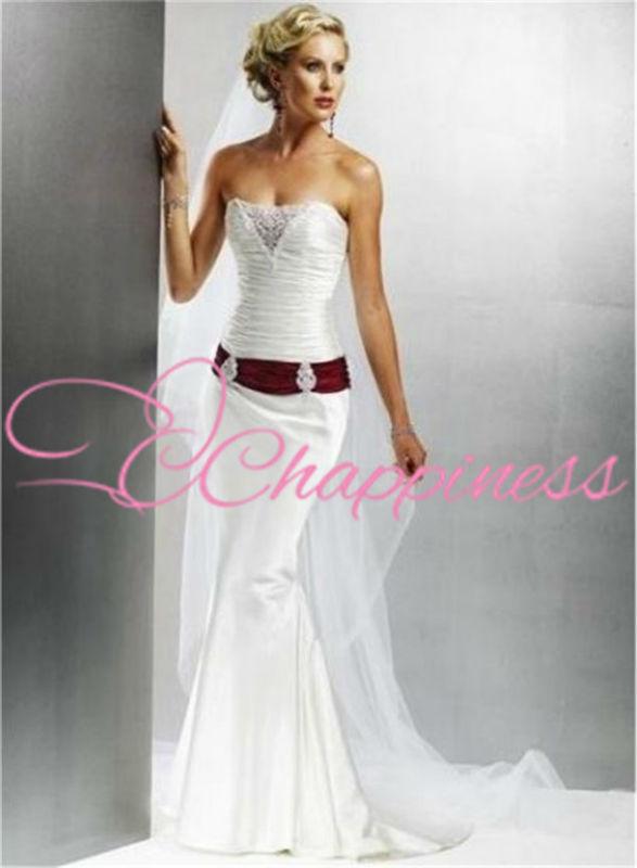Ben noto Abito da sposa bianco e rosso zelda - Fashion touch italy US34