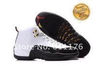 Free Shipping Wholesale Hot Sale XII 12 Retro Men's Basketball Sport Footwear Sneaker Shoes - Black / White