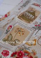 очаровательный потертый шик цветочная открытка Лен хлопок ткань btm - n1205 140 см x 100 см