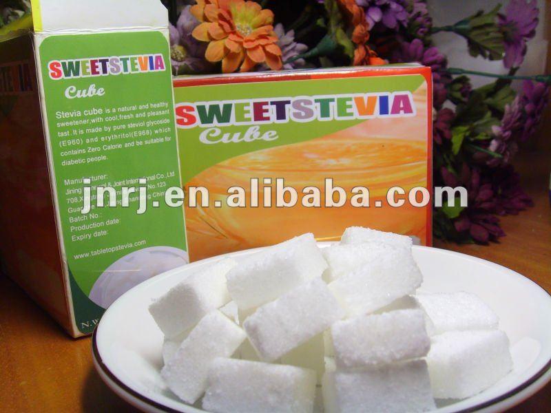 Stevia sugar cubes