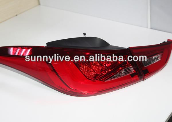 Elantra LED Tail Lamp For Hyundai 2011-13 year BMW Style Red White