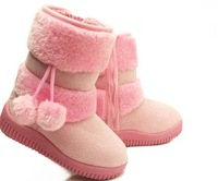 Ботинки для девочек 3804 Girls Snow Boots Thicken Winter Children Shoes For 2-15 yrs Kids 2012 New Style