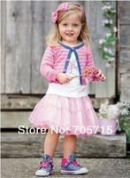 Retail Free shipping 2013 Spring New Arrival children skirt, children clothing set,girl sweater+shirt+skirt set