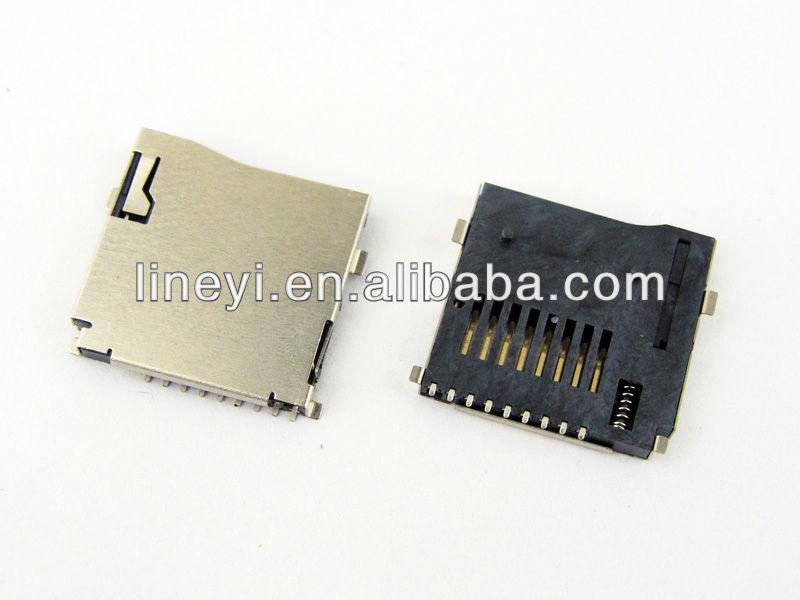 Push T-flash card connector