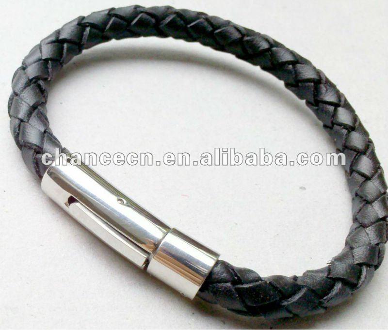 Как сделать застежку к кожаному браслету