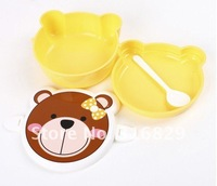 free shipping 4pcs cartoon animal lunch box for kids children bento snack case