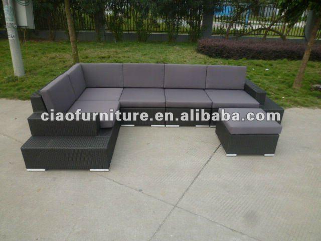 En plein air en rotin canap meubles en plastique en osier - Canape en osier ou rotin ...