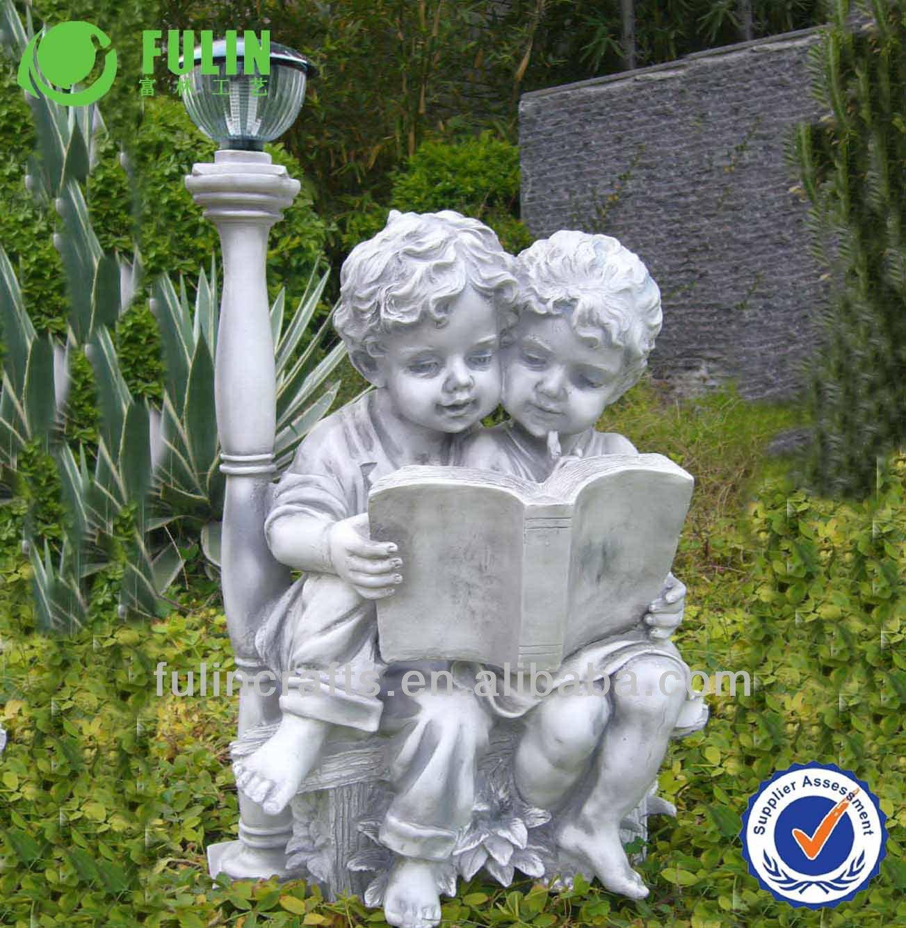 imagens de enfeites para jardim:jardim enfeites de resina anjo bonecas-Artesanato de resina-ID do