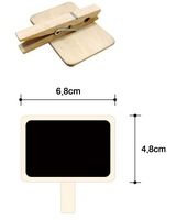 Канцелярский зажим 60pcs/lot, New blackboard wooden clip, wooden message clip, Clip board, Lovely stationery