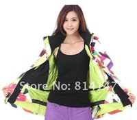 Лыжная одежда для девочек 2012 women snowboarding jacket best skiing clothing for women ski suit ride jacket girls anorak parka colorful bar