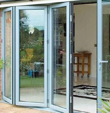 De aluminio plegable de la puerta para puertas de ducha - Puerta plegable de aluminio ...