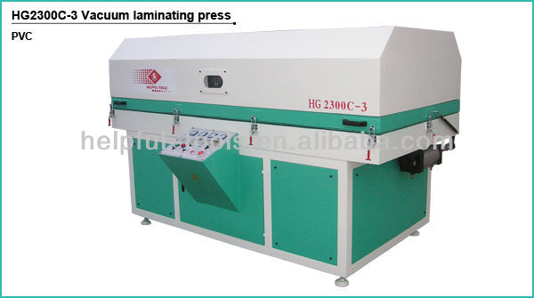 Vacuum membrane press machine infrared light heating