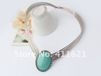 Накладной воротничок trendy torques with beautiful artificial gem stone 2012 special design women jewelrys
