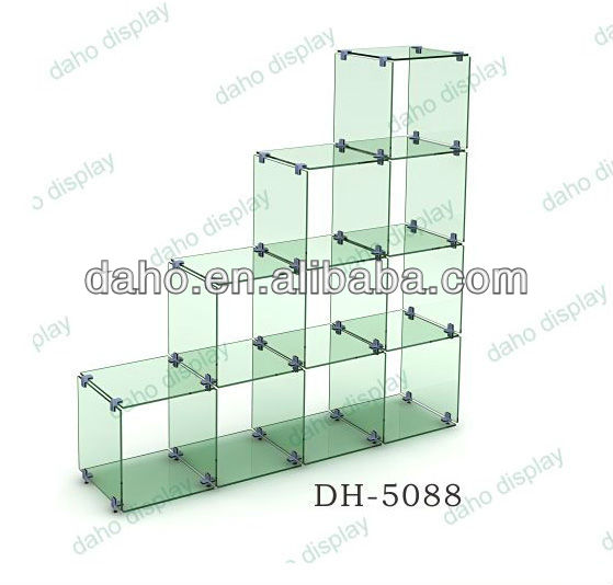 DIY glass showcase display stand for handbag