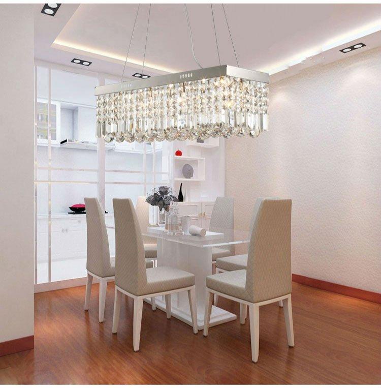 Lustre de cristal l mpada de ilumina o da sala de jantar - Lamparas de comedor de diseno ...