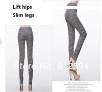 Брюки женские мода плюс бархатный карандаш / slim джинсы / брюки / леггинсы с цветок печати, согреться