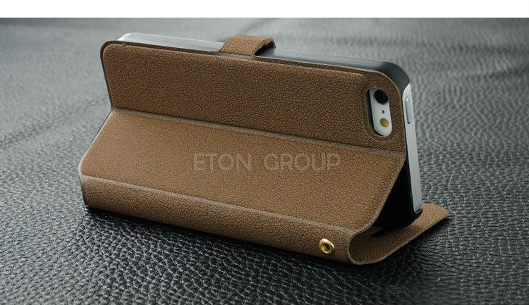 Shenzhen manufactory PU leather+hard PC mobile phone bag for iphone 5 case