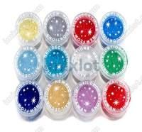 Блестки для ногтей 3boxes/12colors [f310a F310B * 3