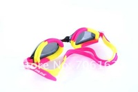 Color pink Antifog UV proof Adult Swimming goggles glasses For men women S M L