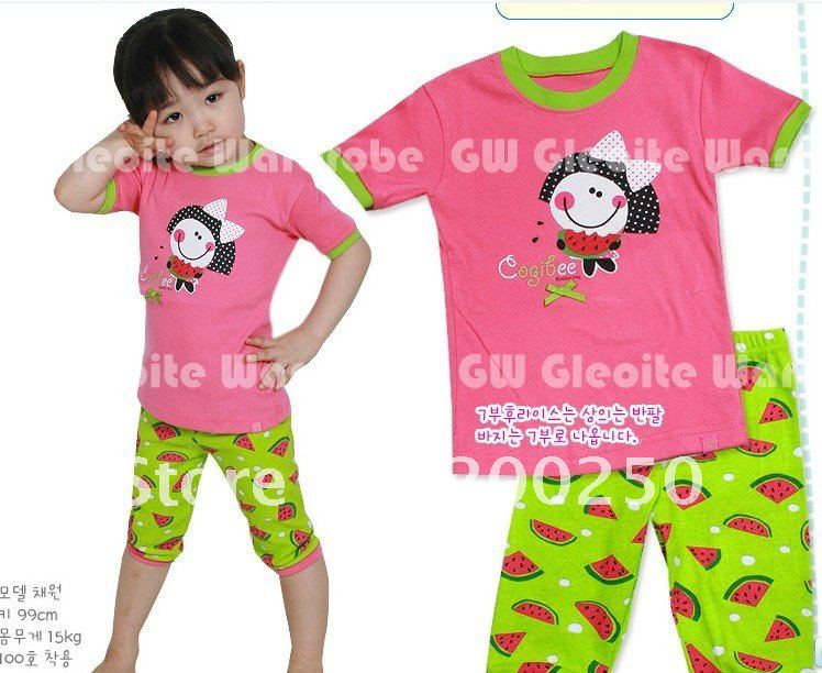 NEW Arrive Baby Short Sleeve Cotton Pajamas,Pyjamas, Baby Sleepwear, 6 sets/lot, 10 design , Free Shipping # 5.9