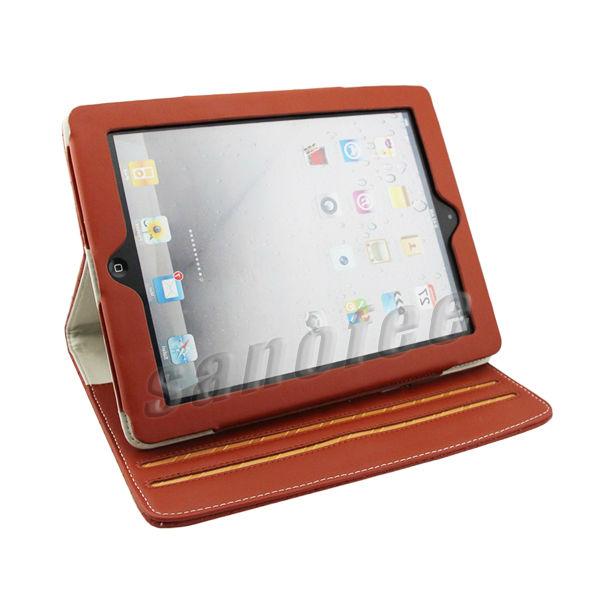 Fashion PU Leather wallet case for ipad mini
