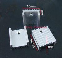 Free Shipping 100pcs Transistors TO-220 Aluminum Heat Sink 17x15x7mm with 100pcs M3 Screw