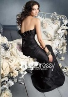Free shipping Empire Sweetheart Sweep Train Taffeta Bridesmaid Dress With Ruffle (007004199)