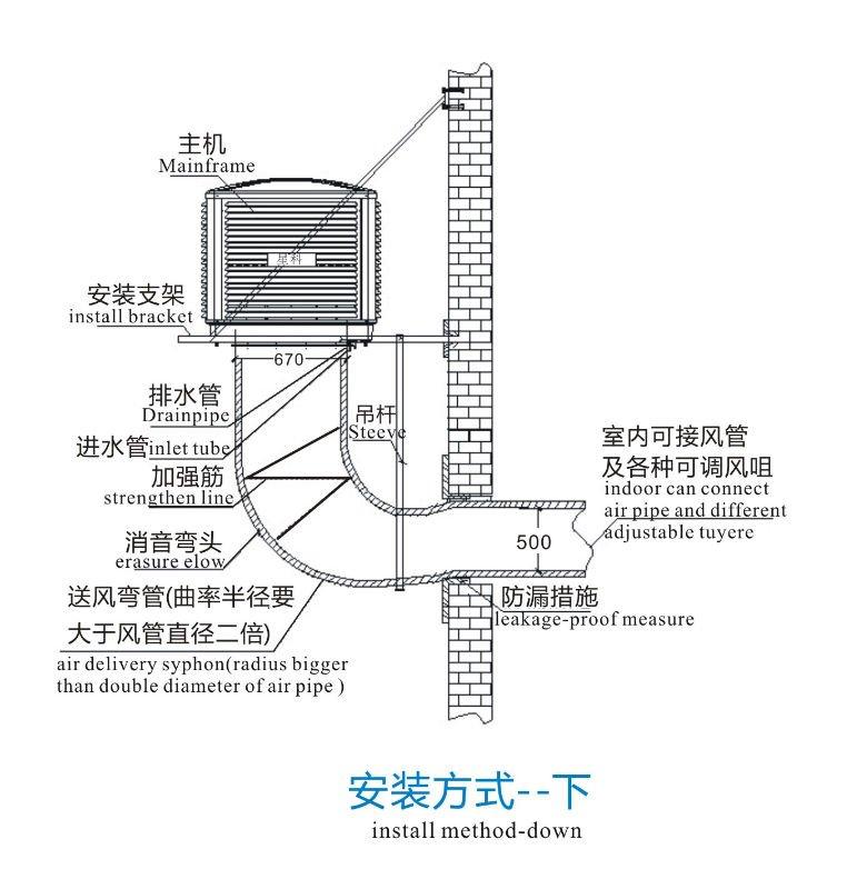 low cost 18000m3/h desert air cooler,water air cooler