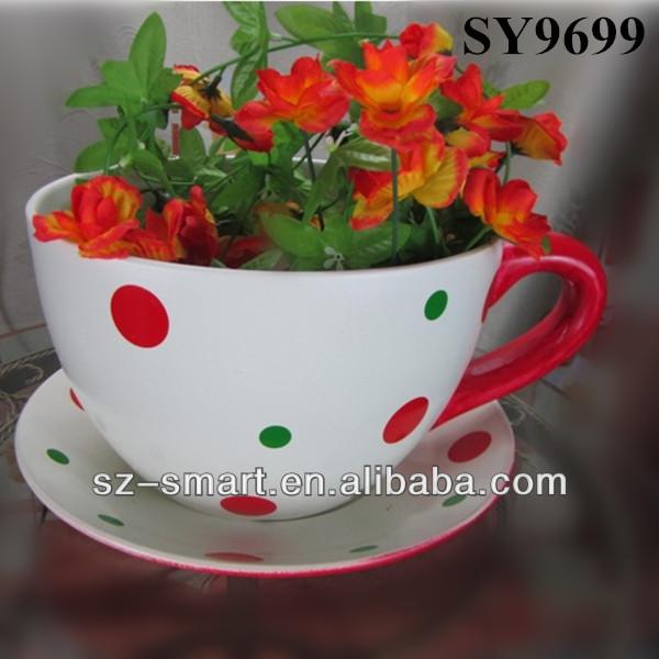 Ceramic Flower Pot Coffee Mug View Flower Pot Coffee Mug