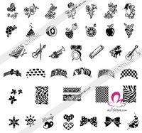 Шаблоны для дизайна ногтей 498 Designs M Serie Nail Art BIG Template Large Size Nail Art Stamping Image Plates *1pcs M3 + 1pcs M4