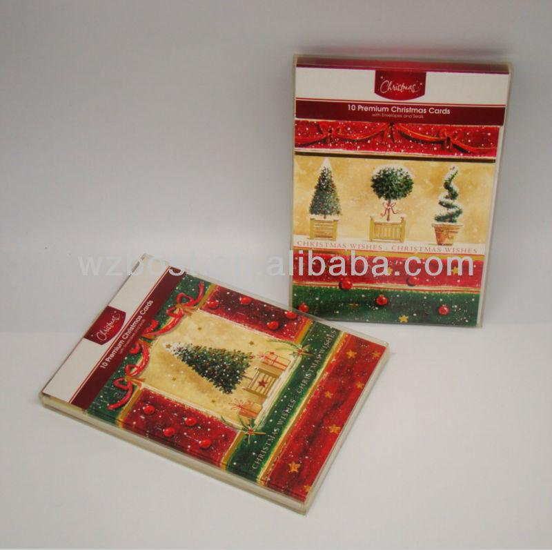10 Premium Christmas Cards Glitter - Buy Christmas Cards,Glitter ...